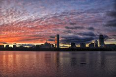 Professional Print.  Sizes: 10 X 8 inches and 19 X 13 inches.  This picture was taken during a winter sunrise overlooking the Boston towers on the Cambridge side of the Charles River.  One of the most colorful sunrises I've ever seen.  It was tough to wake up that day but well worth it!  IG: @burnsobright11 website: www.burnsobright.com