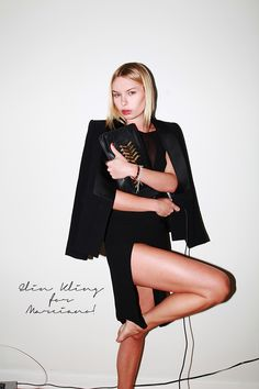 CLUTCH AND DRESS BY ELIN KLING FOR MARCIANO. TUX JACKET BY ZARA