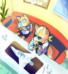 Fox & James | Tumblr Star Fox Video Game, B The Beginning, Shining Tears, Fox Mccloud, Barrel Roll, Fox Games, Fox Pictures, Cute Games, Anthro Furry