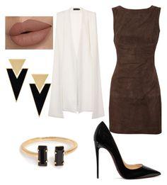 Brown by mariaelisabeth-r on Polyvore featuring polyvore fashion style Twenty8Twelve Lavish Alice Christian Louboutin Yves Saint Laurent clothing