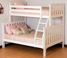 Florence Twin over Full White Bunk Beds