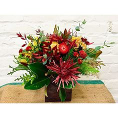 Thanksgiving centerpiece from Local Color Flowers.