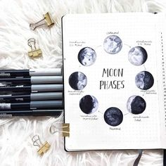 Stellar Moon Phase Spreads for your bullet journal Looking to tracking something really special? Why not try these stunning Moon Phase Spreads for your bullet journal, we have for you to be inspired by! Bullet Journal Cover Page, Bullet Journal 2020, Bullet Journal Spread, Bullet Journal Layout, Bullet Journal Ideas Pages, Journal Covers, Bullet Journal Inspiration, Journal Aesthetic, Book Of Shadows