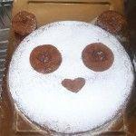 Torta tenerina decorata a panda http://blog.giallozafferano.it/specialit/torta-tenerina-decorata-a-panda/