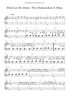 play popular music, Don't Let Me Down - The Chainsmokers ft. Daya, free piano sheet music