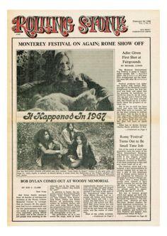 Janis Joplin, Rolling Stone no. 6 - February 24, 1968