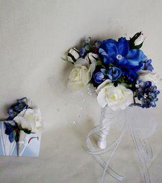 Beach Wedding Bouquet Blue Bridal keepsake Bouquet