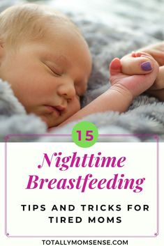 Nighttime breastfeeding is one of the hardest things for nursing moms to do. Find these 15 tips to help make your breastfeeding journey easier. Newborn Nursing, Child Nursing, Newborn Care, Breastfeeding Positions, Breastfeeding Problems, Breastfeeding And Pumping, Co Parenting, Baby Milestones, Baby Care