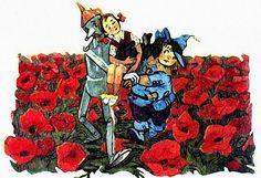 Элли (Дороти) и все остальные в иллюстрациях советского и американского художников