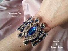 """""""Cleopatra's Eye"""" bracelet https://www.etsy.com/it/shop/PerlineeBijoux"""