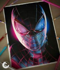 Marvel Avengers Comics, Marvel Art, Hyper Realistic Paintings, Realistic Drawings, Earth Drawings, Animal Drawings, Joker Character, Spiderman Drawing, Marvel Drawings