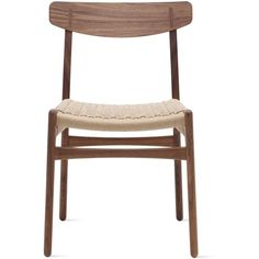 CH23 Side Chair Design Within Reach ($825) ❤ liked on Polyvore featuring home, furniture, chairs, dining chairs, hans wegner furniture, hans wegner dining chair, wegner chair, modern chairs and modern side chair