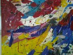 Acrylbild auf Leinwand*100*90*Einzelstück- neu- signirt- grundiert Dory, Bunt, Modern, Painting, Canvas, Art Production, Trendy Tree, Painting Art, Paintings