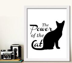 Cat poster Cat quote Cat lover Cat lover by BeePrintableQuoteArt  #catart #etsyuk #printablewallart