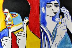 Deaf Culture   Cherish Deaf Culture 20 inch by 30 inch oil on stretched canvas SOLD ...