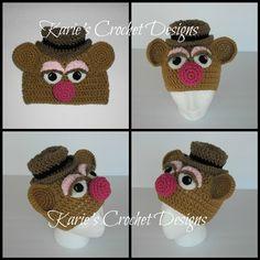 Fozzie Bear Muppet Handmade Crochet Hat Beanie. $24.95, via Etsy.