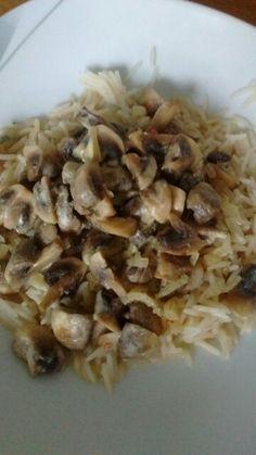 Champignons mit Basmatireis
