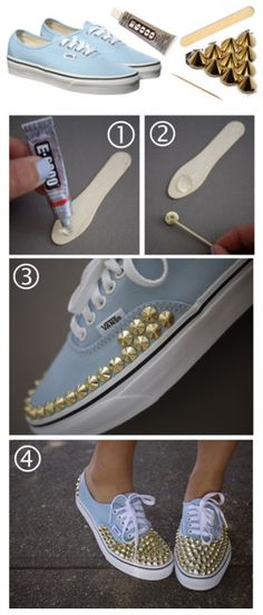 DIY Studded Sneakers except I'd do them on a pair from Target cause I'm not about to jack up a $50 pair of shoes