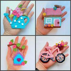 Crochet Applique Patterns Free, Crochet Coaster Pattern, Crochet Motif, Amigurumi Patterns, Crochet Flowers, Crochet Appliques, Pdf Patterns, Free Crochet, Crochet Gifts