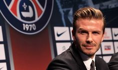 Bonjour Sir David! Beckham es presentado como refuerzo del Paris Saint-Germain