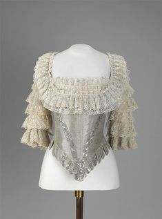 The bodice of a coronation gown of Empress Maria Fyodorovna Russia, Saint Petersburg, 1796.