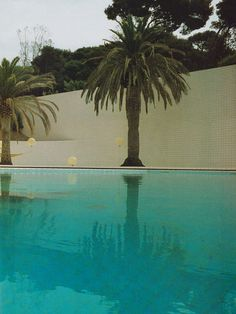 pool designed by alain capeilleres, south of france, 1986]
