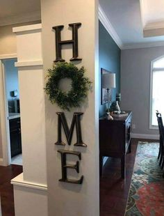For Top Of Stairs/entryway Wonderful Home Decor, Letter Decor, H O M E ,  Use A Wreath As The O,