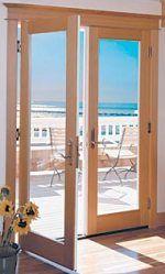 Exterior double French doors