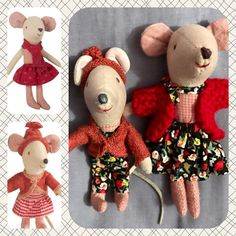 Maileg mice wardrobe update - before and after.