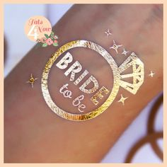 Bachelorette Party Tattoos - Bride Tribe (Set of 16) | Jewelry Ideas | Darby Smart