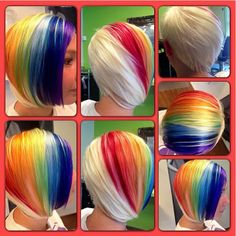 This is seriously so gorgeous - Best New Hair Styles Funky Hairstyles, Pretty Hairstyles, Hair Rainbow, Rainbow River, Anti Aging, Adventure Time, Crazy Hair Days, Corte Y Color, Beautiful Hair Color