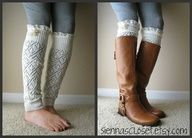 Leg warmers with boots woow