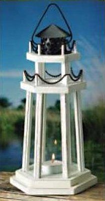 lighthouse wedding decorations white metal amp glass nautical lighthouse lantern shop 5531