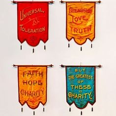 . : there is extensive power in ritual & ceremony. : I honor this practice by constantly researching & archiving the many ways both are expressed utilizing text. : these silk hand sewn massive Goodfellow flags are my #bitofinspiration today to continue to elevate my craft. : #mason #masonic #goodfellows #brotherhood #masonicsymbol #ritual #cermony #text #typography #flag #pennant #friendship #love #truth #symbol #font #textileart #handmade #inspiration #magic #freemason