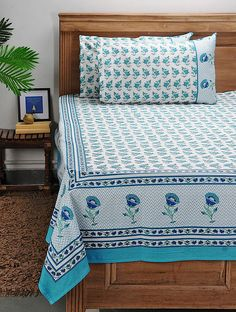 Floral Bedding, Linen Bedding, Bedding Sets, Bed Covers, Pillow Covers, Designer Bed Sheets, Clothing Store Design, Bed Sheets Online, Indian Block Print