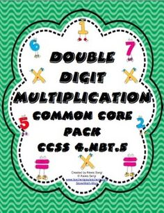 Double Digit Multiplication Common Core Standards Pack CCSS - This is perfect for math workshop, centers, enrichment, or remediation. It includes task cards, games, practice sheets, center cards, and a Scoot game. WOW! $