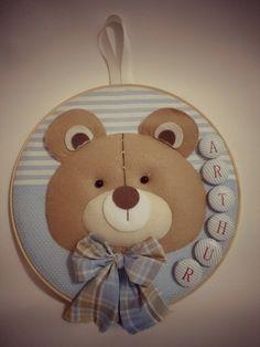 Bastidor Bebê/Porta Maternidade Urso