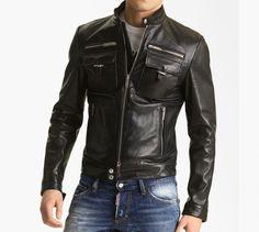 Dsquared2 'Chic' Leather Moto Jacket