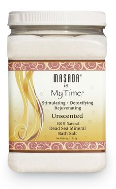 Masada Bath Salts, Naturally Unscented, Dead Sea Mineral, 64 oz (1.814 kg)