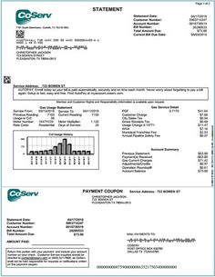 Fake Utility Bill From Aep We Can Customize It With Your Name