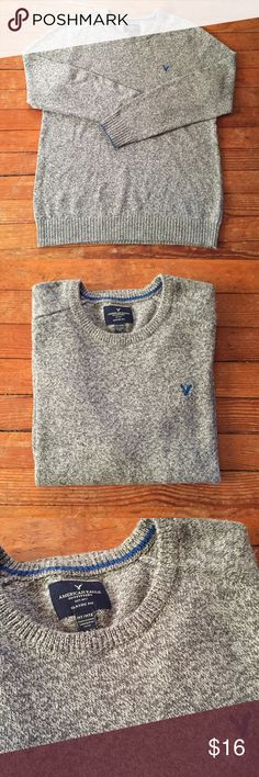 Men's American Eagle Classic Fit Gray Marl Sweater American Eagle Classic Fit Gray Marl Sweater • Classic fit, crew neck gray marl sweater • Size Medium Tall • No rips, stains, or snags American Eagle Outfitters Sweaters Crewneck