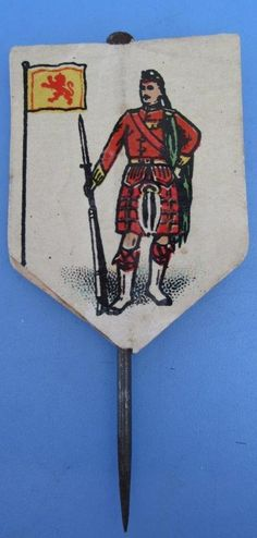 WW1 Flag Day Fundraising Charity Pin Badge The Highlands Scottish Regiment