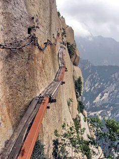 Mt Huashan, China - the most dangerous mountain trail in the world