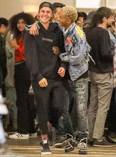 Paling around! Celebs Justin Bieber, Jaden Smith and Kaia Gerber (not pictured) were all seen at the same party in Beverly Hills Wednesday night, proving that famous birds of a feather really do flock together