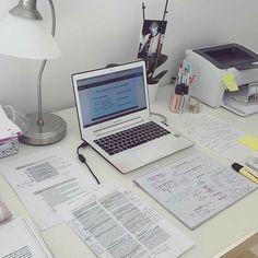 Study Desk, Study Space, Studyblr, Creative Office Space, Study Organization, Design Typography, School Desks, School Notes, College Notes