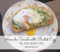 Good toast, topped with lemony, peppery avocado smash, and a perfect basted egg is the best breakfast. Ever. And it's ready in five minutes!