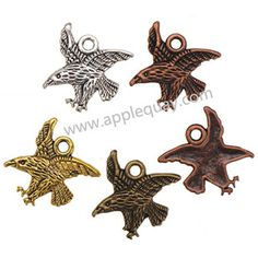 Zinc Alloy Skull Charms,Eagle,Plated,Cadmium And Lead Free,Various Color For Choice,Approx 27*21.5*3mm,Hole:Approx 3mm,Sold By Bags,No 002017