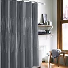 Kenneth Cole Reaction® Home Frost Shower Curtain in Grey - BedBathandBeyond.com