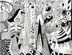 black and white marker murals - Google Search
