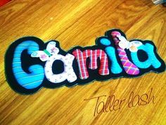 Foam name plaque part 1 Foam Crafts, Easy Diy Crafts, Mobiles, Felt Hair Clips, Name Plaques, Plate, Lashes, Banner, Scrapbook